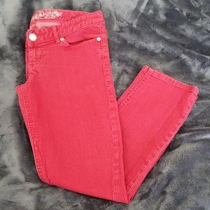 Express Crop Jean Legging - Zelda - Red